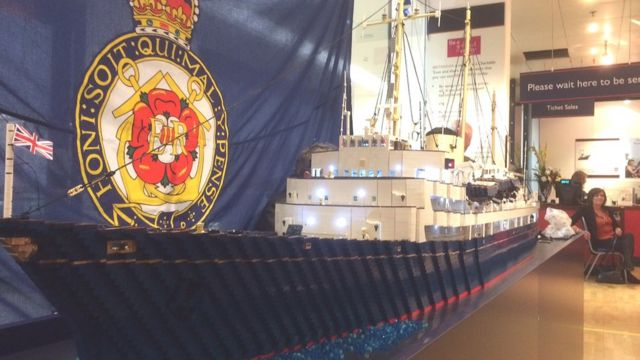 The Royal Yacht Britannia Lego replica to be unveiled in Leith
