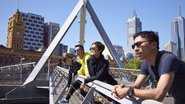 Viajeros chinos en Australia
