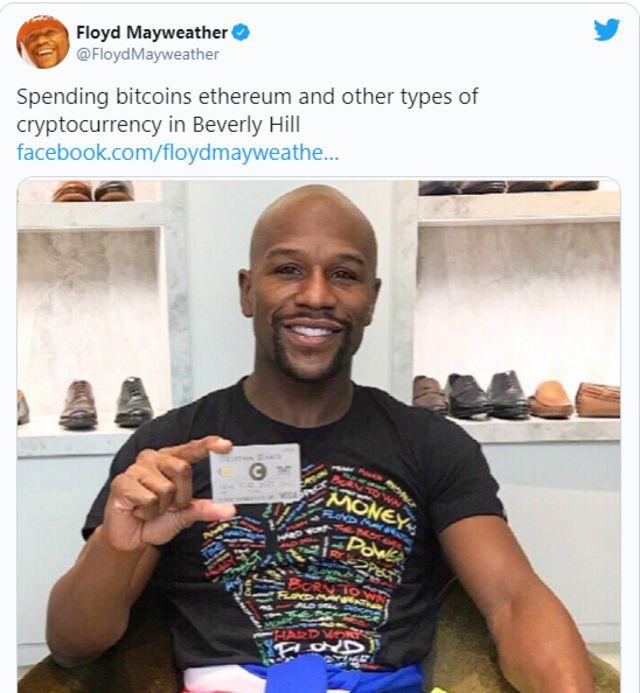 Floyd Mayweather also endorse bitcoins