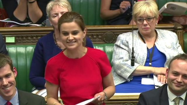 Jo Cox in the House of Commons