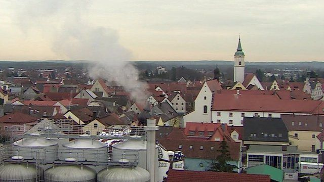 Rooftop view of Abensberg