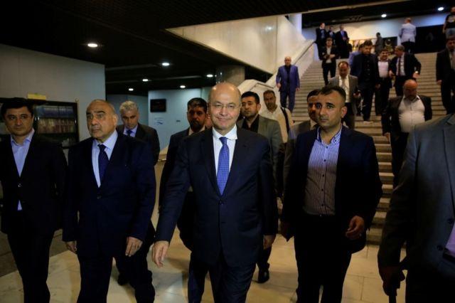 رئيس العراق الجديد برهم صالح يعين عادل عبد المهدي رئيساً للوزراء بعد ساعتين من أدائه اليمين الدستورية