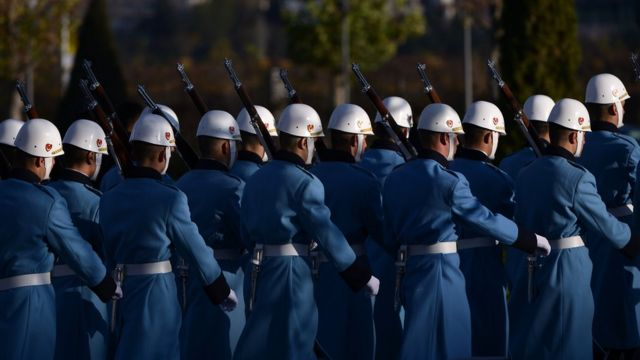 La guardia presidencial es un cuerpo de élite encargado de velar por la seguridad del mandatario, Recep Tayyip Erdogan.