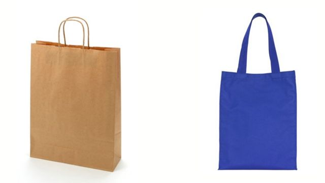 काग़ज और सूती बैग