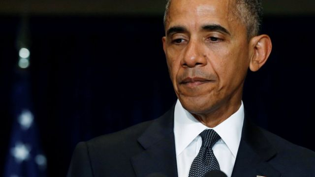 "Obama descreveu o ataque como ""perverso, calculado e desprezível"""