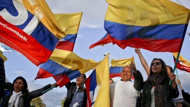 Manifestación a favor de la paz