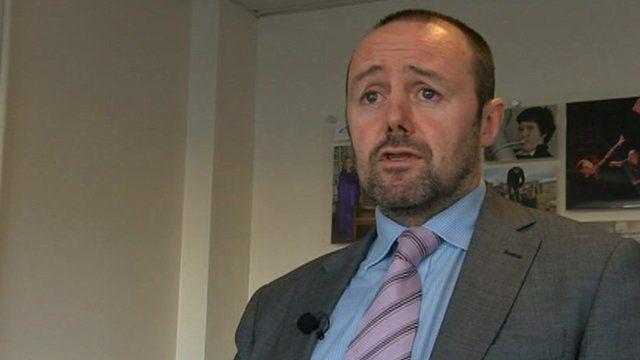 Simon Davies, head teacher at Ysgol Gyfun Gymraeg Bryn Tawe
