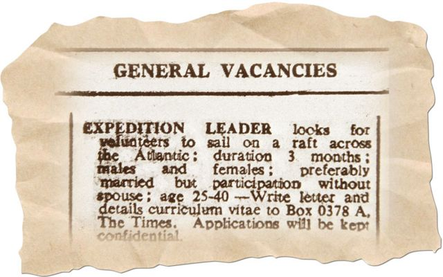 Ad placed by Genoves in the The Times newspaper