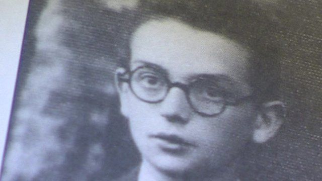 Black and white photograph of Ernst Bornstein as a young man