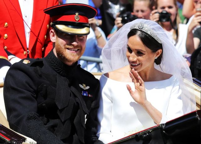 2018年5月,哈里与梅根在温莎堡(Windsor Castle)共偕连理。(photo:BBC)