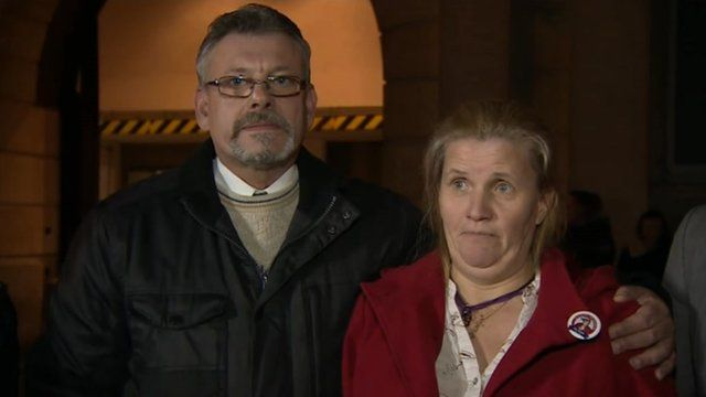 David and Sylvia Evans outside Bristol Crown Court