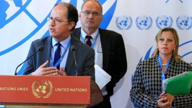 Pablo de Greiff, le Sud-Africain Christof Heyns et l'Algérienne Maya Sahli-Fadel