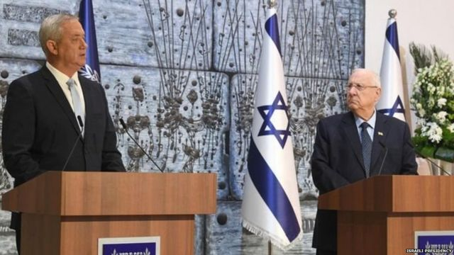 "Benny Gantz hopes to form a national unity government, ""as broad as possible"", within days"
