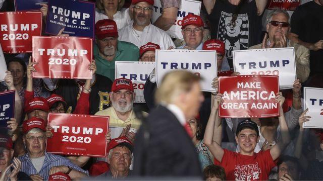 Trump em campanha para eleição de 2020