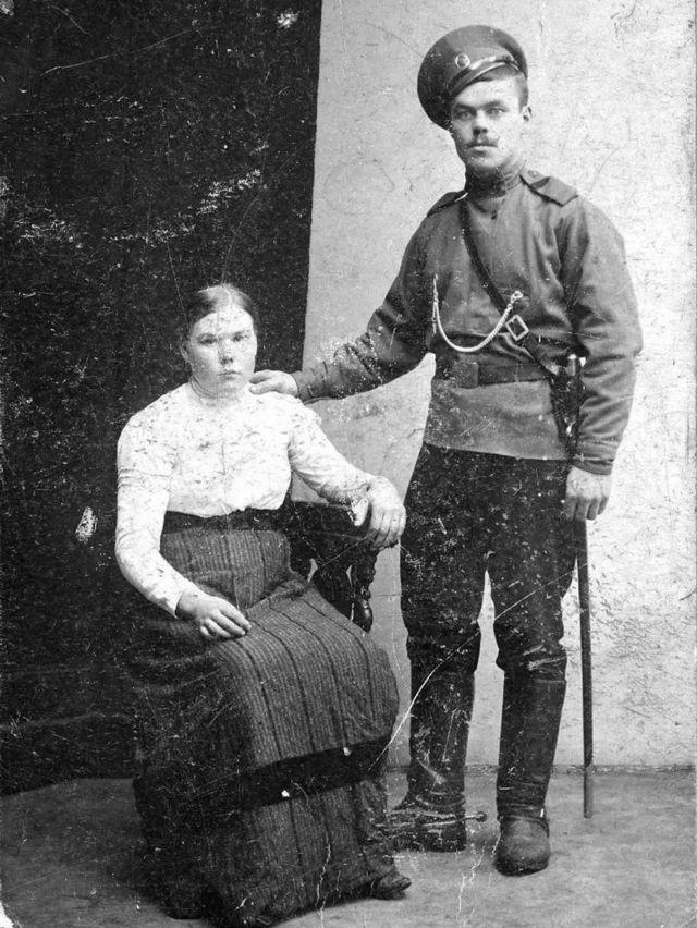Fyodor Oparin 和妻子