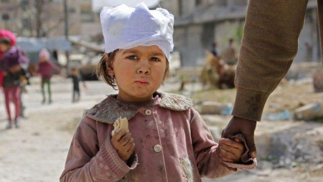 Bariga Ghouta waxaa ka barakacay dad badan oo rayid ah
