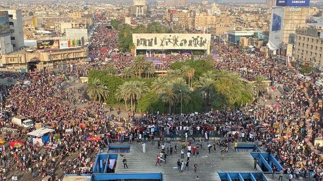 Bağdat'ta protestolar
