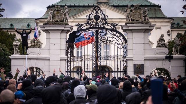 Protest in Bratislava