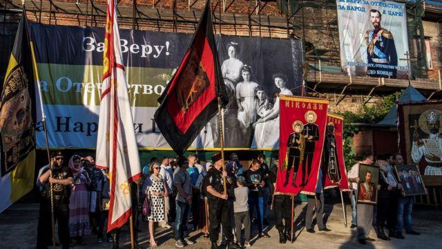 Manifestación de cristianos ortodoxos el 1 de agosto de 2017