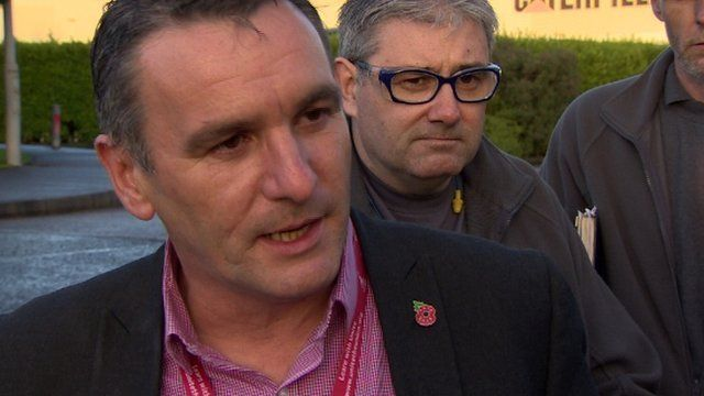 Davy Thompson from Unite called on the minister to be pro-active about the current loss of manufacturing jobs