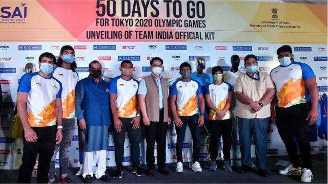 印度奥委会刚刚于6月3日发布了李宁赞助的国家队奥运服饰。(photo:BBC)