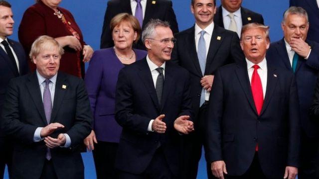 Líderes europeus e Trump