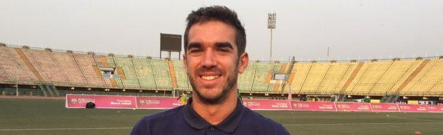 Bernat Gorriz, kociyan Kwalejin Horarwa a kwallon kafa ta Barcelona da ke Legas.