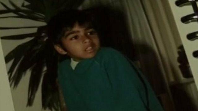 Nimal Samantha as a schoolboy