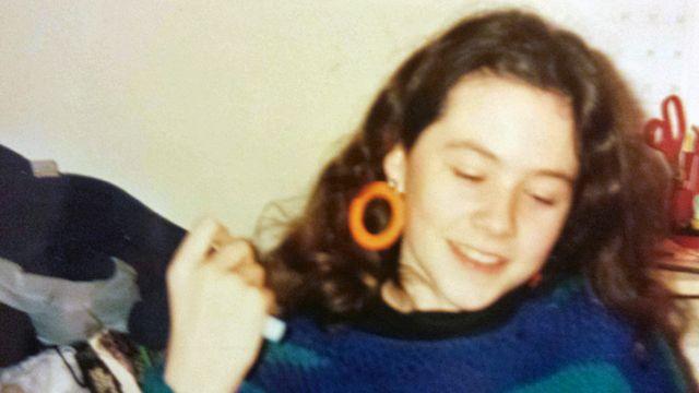 Сара Томас кад је имала 14 година