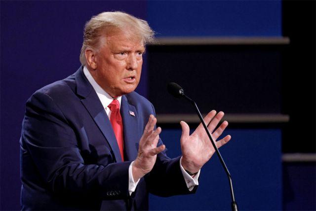 Donald Trump se debate con Joe Biden