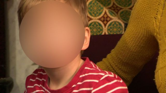 two-year-old boy (blurred)