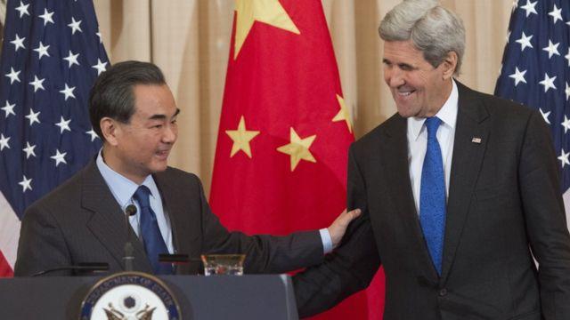 Cancilleres de China y EE.UU.