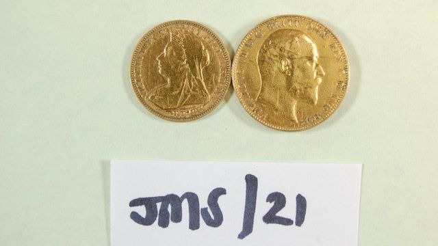 Coins recovered from the Hatton Garden heist