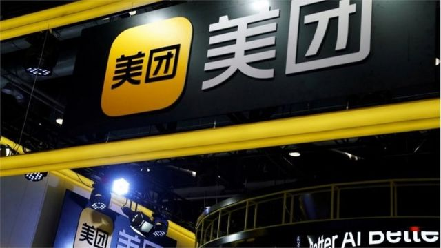 Signs of Meituan are seen at its booth at the 2020 China International Fair for Trade in Services (CIFTIS) in Beijing, China, Sept. 4, 2020