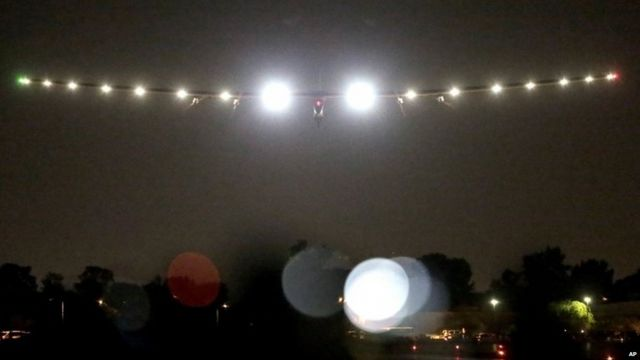 Solar Impulse approaches Arizona
