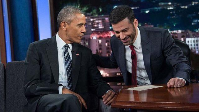 राष्ट्रपति ओबामा एक टीवी शो के दौरान