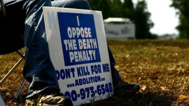 Protesta contra la pena de muerte en EE.UU.