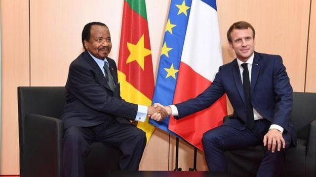 President Paul Biya and President Emmanuel Macron