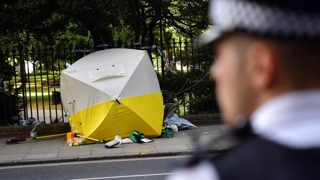Scene of attack in Russell Square