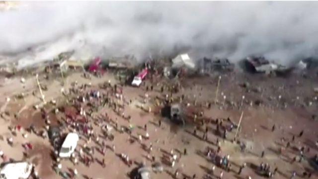 पटाखा बाज़ार में आग