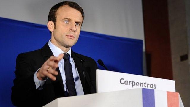 المرشح للرئاسة الفرنسية إيمانويل ماكرون