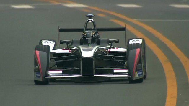 Formula E electric racing car