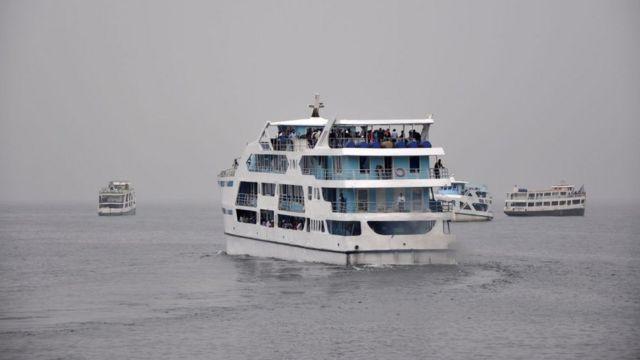 Des bateaux sur le lac Kivu en République démocratique du Congo (image d'archives)