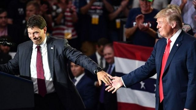 Troy Balderson and Donald Trump