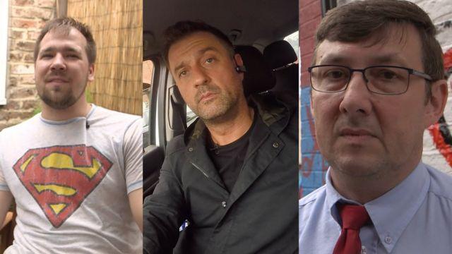 Three Polish migrants in Boston, Lincolnshire