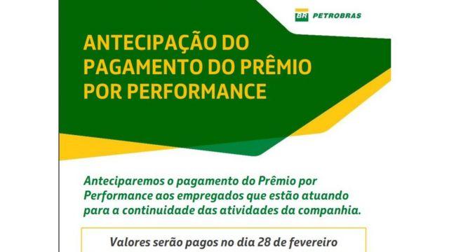 E-mail interno obtido pela BBC News Brasil sobre antecipação de pagamento a funcionários que não aderirem a greve