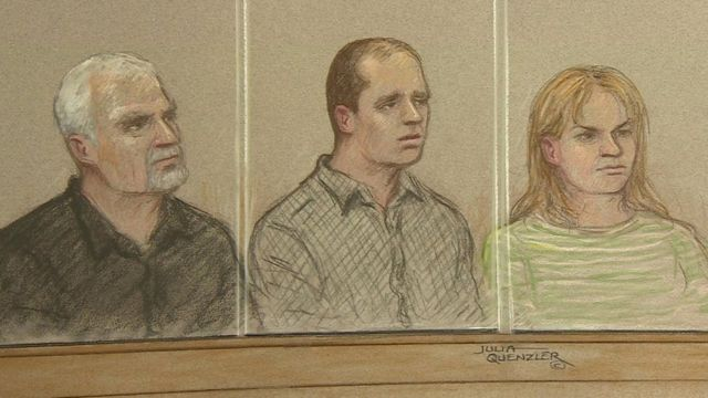 Matthew Daley (centre) in the dock