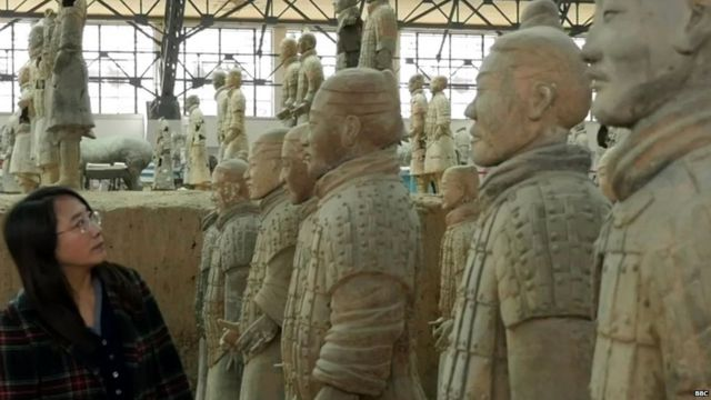 The terracotta warriors date from the time of Emperor Qin Shi Huang