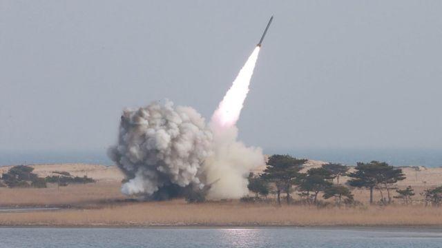 3月に北朝鮮が実施したミサイル発射実験