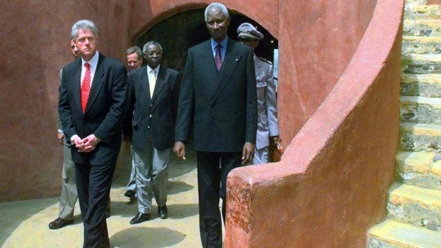 Clinton no Senegal em 1998